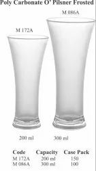 Polycarbonate O''Pilsner Frosted Glass