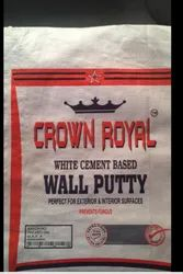Crown Royal White Cement Based Wall Putty, Packing Size: 20 Kg