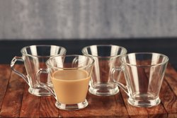 Femora Glass Espresso Tea Mug Coffee Mug - Set of 4-165 mL