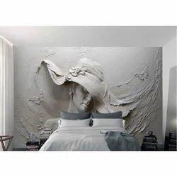 White Canvas 3D Wall Mural