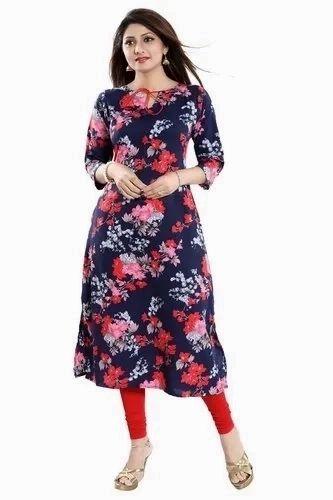 741690f6d Casual Wear Anarkali ALC Creations Women  s Crepe Kurti