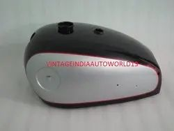 New Bsa A7 A10 Black & Silver Painted Petrol Tank