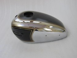 New Ariel 350CC Black Painted Chrome Petrol Tank (Reproduction)