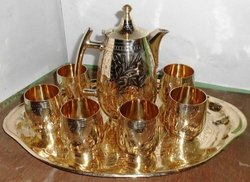 Pure Brass Jug with Six Glass Set