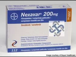Anti Cancer Medicines Room Temperature Nexavar 200mg Tablets, Sorafinib 200mg, Packaging Size: 112 Tablets