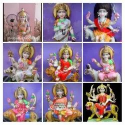Nav Durga Marble Moorti