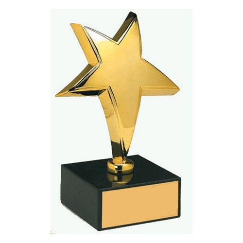 Gold Plated Star Award Trophies, Packaging Type: Box