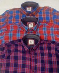 Multicolor Casual Check Men Shirts