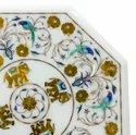 White Beautiful Decorative Marble inlay Coffee Table Top