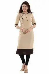 Straight Casual Wear Crepe Kurti