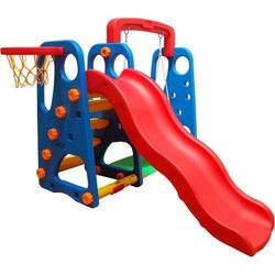 Park Curve Slide with Swing