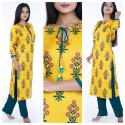 Rayon Kurti with Pants
