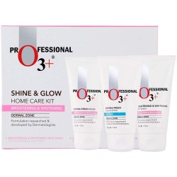 O3 Shine & Glow Home Care Kit for Brightening & Whitening, 150g