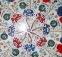 White Marble Coffee Center Table Top Rare Pietra Inlay Home Art