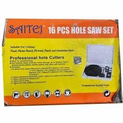 Saitej Carbide Steel Hole Saw Kit - 16pcs, for Garage/Workshop, For Wooden Holes