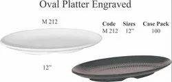 Engraved Oval Platter