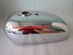 New Bsa A65 Spitfire Hornet 2 Gallon Chrome Gas Fuel Tank Ready To Paint