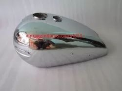 New Ariel Twin Plunger Chrome Plated Gas Fuel Petrol Tank