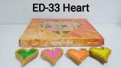 Heart Shape Diya (set Of 12)
