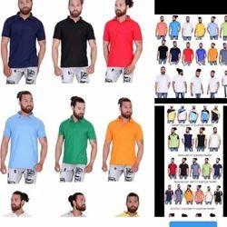 Hosiery Plain Coller T Shirt
