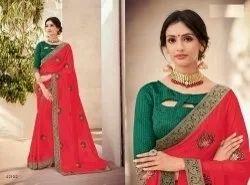 Embroidery Namaste 4 Silk Designer Saree, Quantity Per Pack: 1