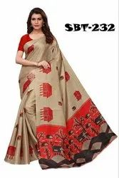 4 Colour RIIKA INTERNATIONAL (RI)' BHAGALPURI SILK SAREE, 6.3 m (with blouse piece), Saree With Blouse