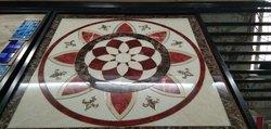 Ceramic Rangoli Tile Pattern
