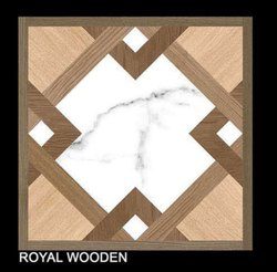 Digital Printing Royal Wooden Kajaria Floor Tiles, Packaging Type: Carton, Size: 600*600 mm