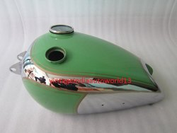 New Bsa B31 Green Painted Chrome Petrol Tank With Replica Smith Speedo