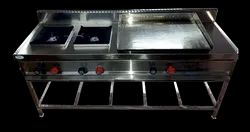 Single Burner Cooking Range with Dosa Plate
