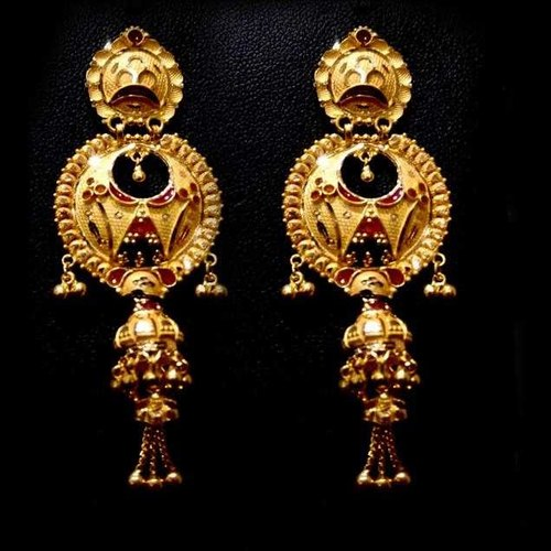 465e34e81ff91 Gold Earring In Heavy Design
