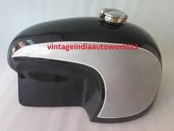 Brand New 10-12 Gallon Bmw Hoske Heinrich Dual Painted Gas Fuel Petrol Tank With Monza Cap(Repro)