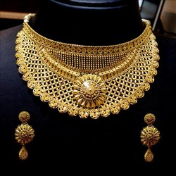 Jewels Box Gold Necklace In Choker Style Approx 66 Gm Rs 36000 Set Id 20873760248