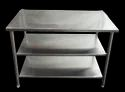 Ss Sliver Simple Table, Size: 44