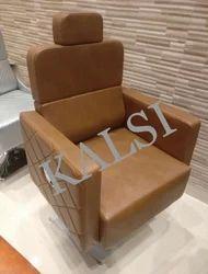 Modern Brown SOFA CHAIR, For parlour, Back Style: Cushion