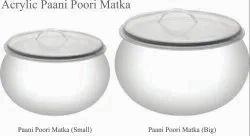 Acrylic Paani Poori Matka