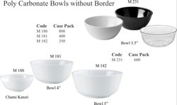 Polycarbonate Bowls Without Border