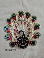 Meenakari Peacock Rakhi Plate (FC-KK8)