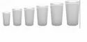 Ply Carbonate Round Frosted Glasses