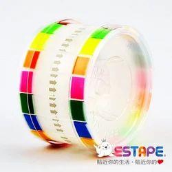 Plastic MEMO Estape Standard Sticy Notes Writable(8 Color Puller)