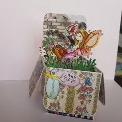 Multicolor Paper Hand Made Greeting Cards