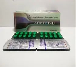 Diclofenac Potassium 50mg and Paracetamol 325mg Tablet