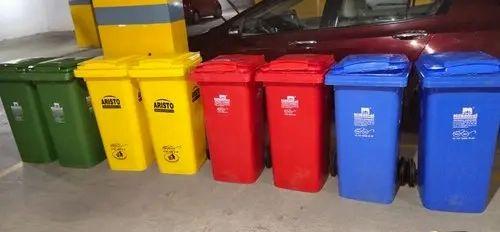 Open Top Rectangular Nilkamal Plastic Dustbin 120 L for Office