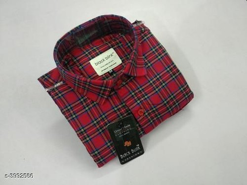 Cotton Twill Full Sleeve Casual Check Shirt