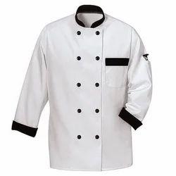 PV White Chef Coats, Size: Medium