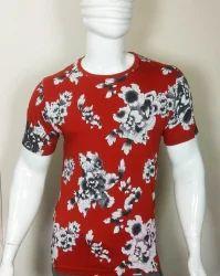 Mens Printed Half Sleeve T Shirt