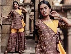 Chiffon Casual Wear Sharara Set
