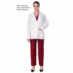 White Collar Pharma Lab Coat, For Hospital