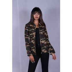 Cotton Ladies Camouflage Printed Shirt, Packaging Type: Packet