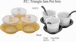 Polycarbonate Triangle Jam Pot Sets Small